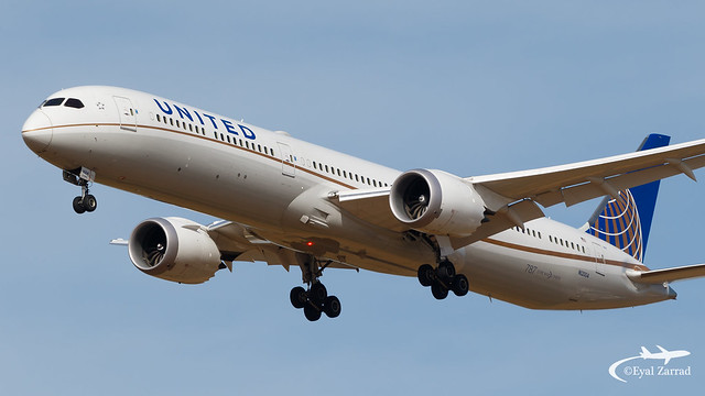 TLV - United Airlines Boeing 787-10 N12004