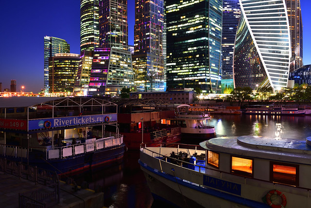 Riverboats on the Moskva River