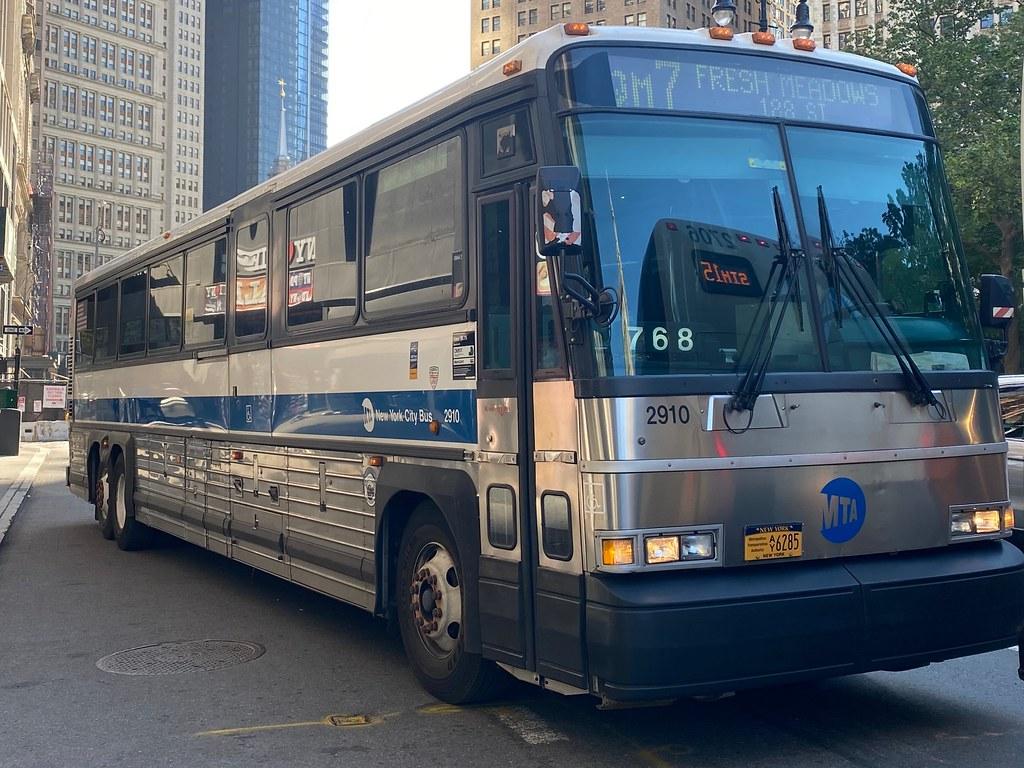 MTA Bus Company: 2002 MCI D4500 #2910 on the QM7