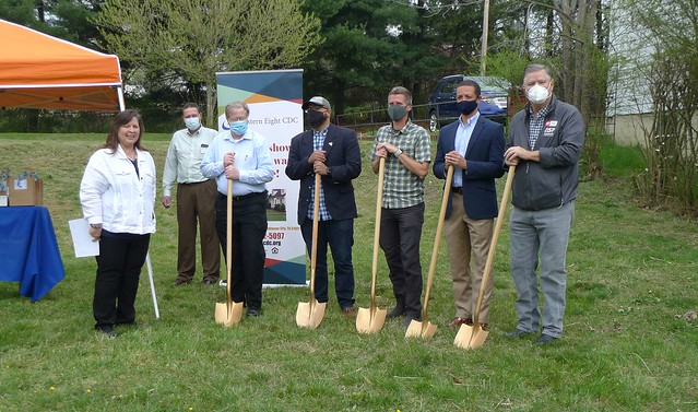 A ground breaking in Johnson City, Tennessee.