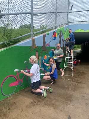 WDMCS Educators Create Mural for Westridge Bike Path