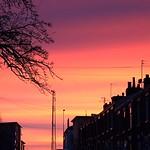 Red sky down a random Preston street