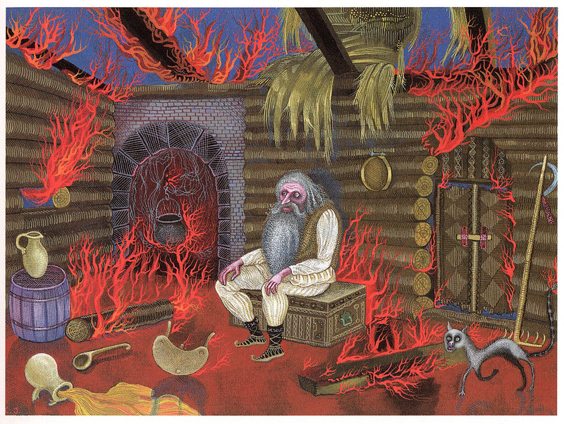 "Cvijeta Job - Illustration 08, from ""Potjeh"" by Ivana Brlic-Mazuranic, 1975"