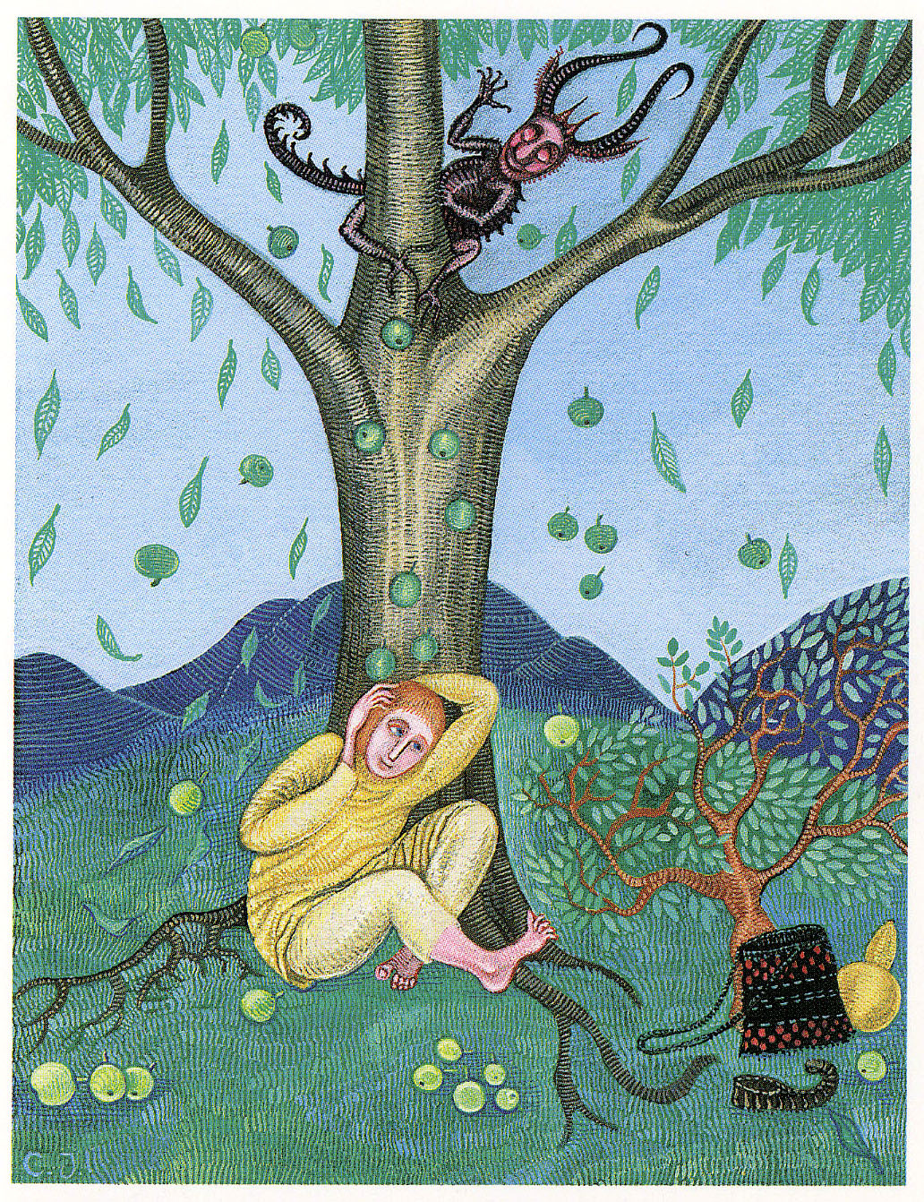 "Cvijeta Job - Illustration 02, from ""Potjeh"" by Ivana Brlic-Mazuranic, 1975"
