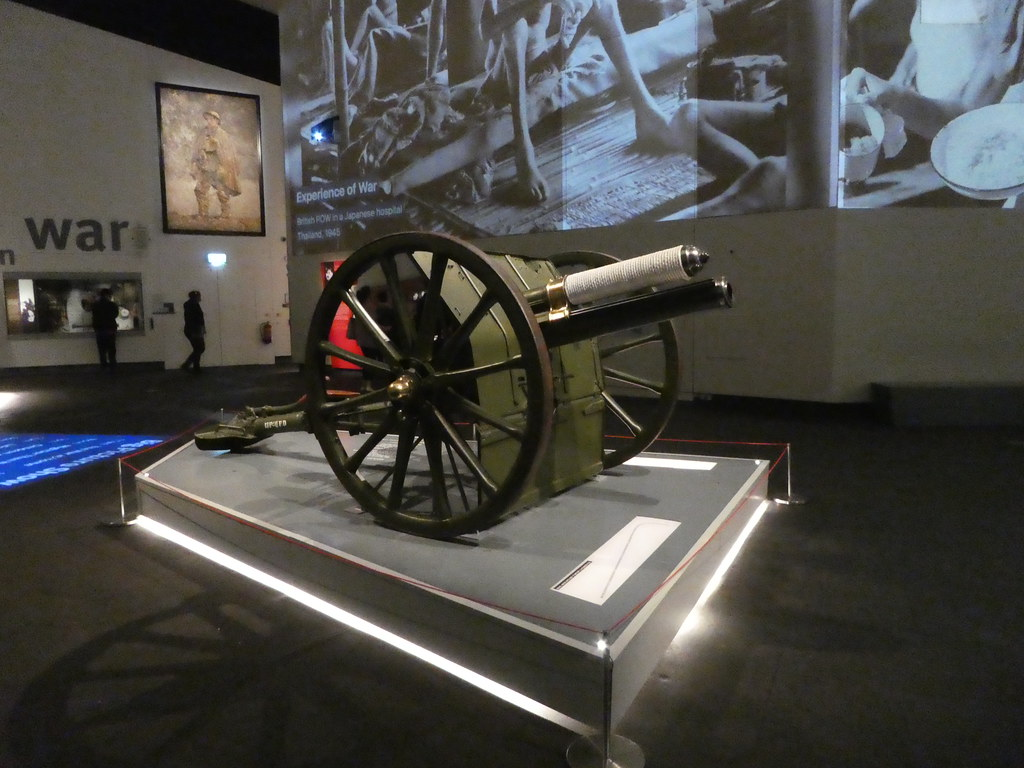 Interior of Imperial War Museum North, Manchester