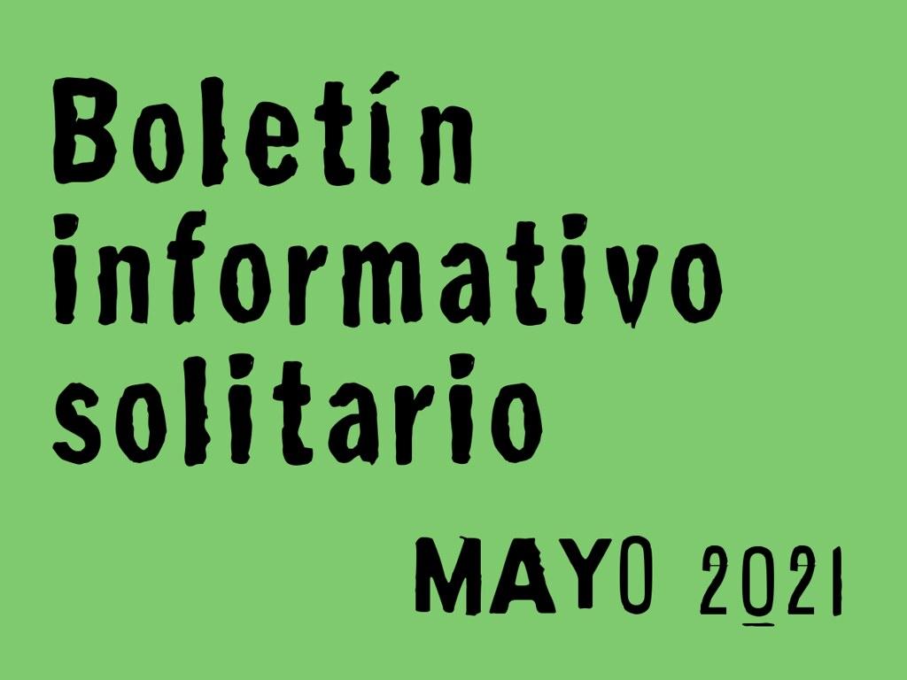 Boletín Informativo Solitario: mayo 2021
