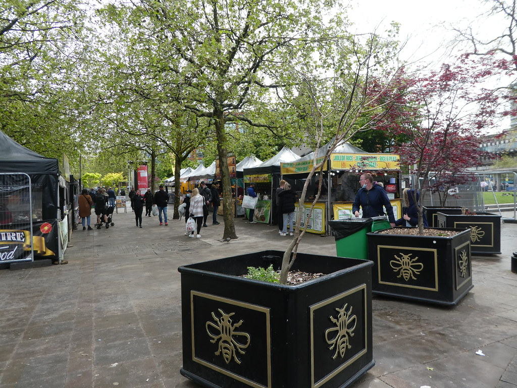 Street Food Market, Piccadilly Gardens, Manchester