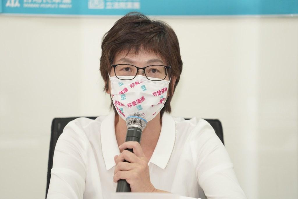 20210528民眾黨提《氣候變遷法》。立委蔡壁如。照片提供:民眾黨
