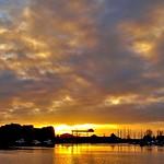 Sunset clouds over Preston Docks