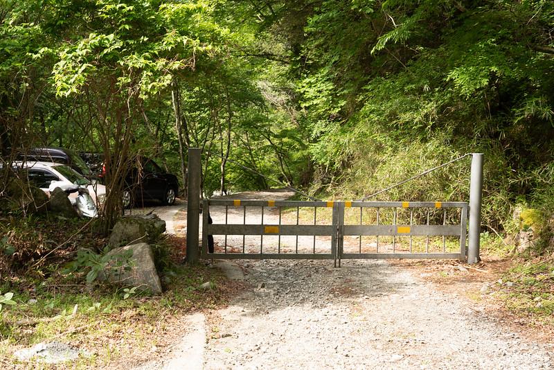 大滝沢登山口の入口