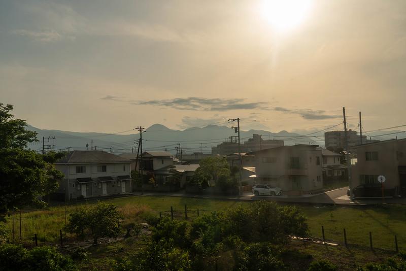 夕日の箱根