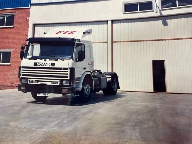Imagen del Scania 113-340, con matrícula SA-1988-K.