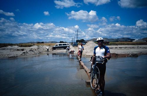 CAR2 Riders Crossing A Slight Flood