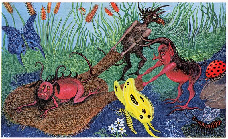 "Cvijeta Job - Illustration 07, from ""Potjeh"" by Ivana Brlic-Mazuranic, 1975"