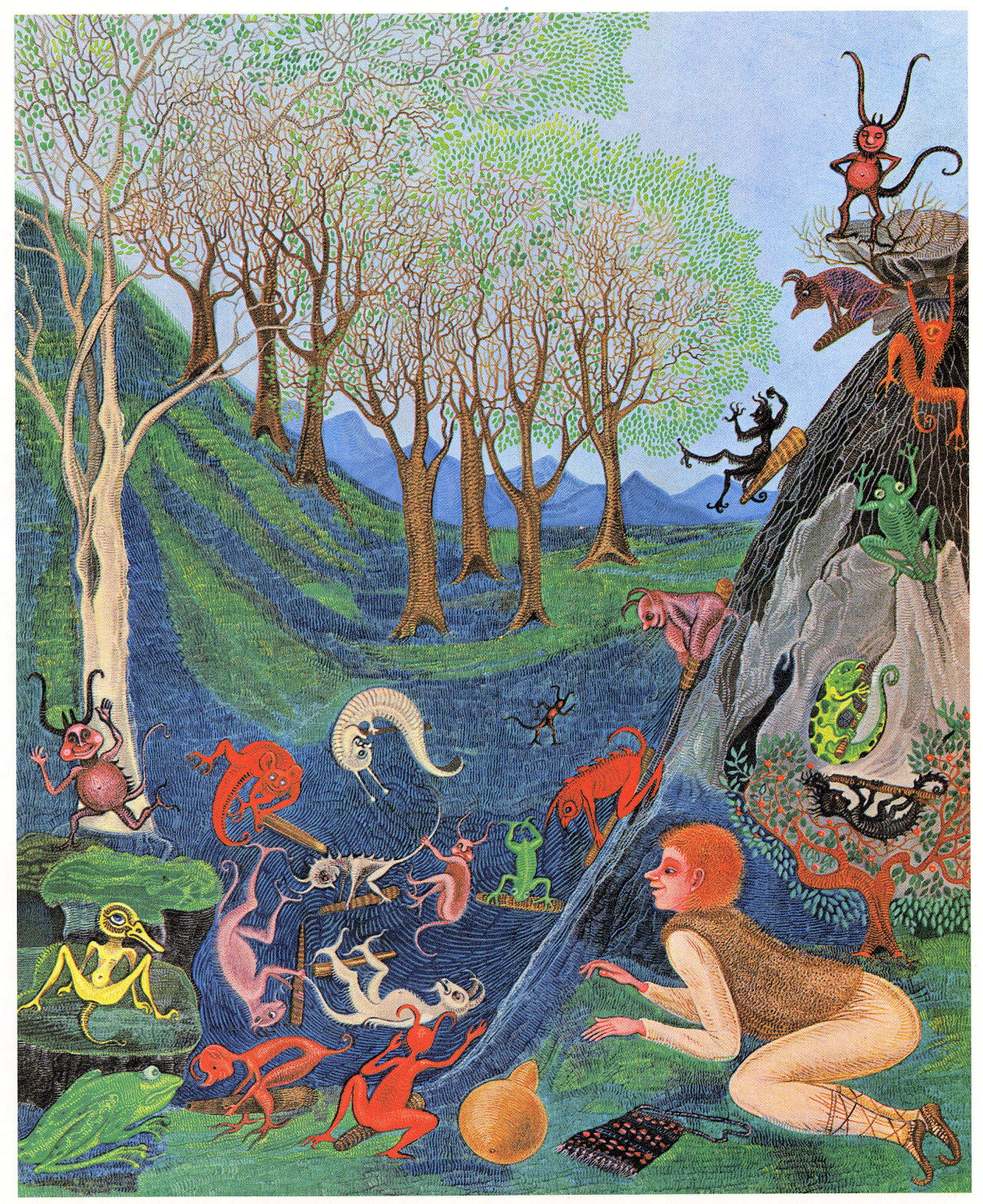"Cvijeta Job - Illustration 05, from ""Potjeh"" by Ivana Brlic-Mazuranic, 1975"