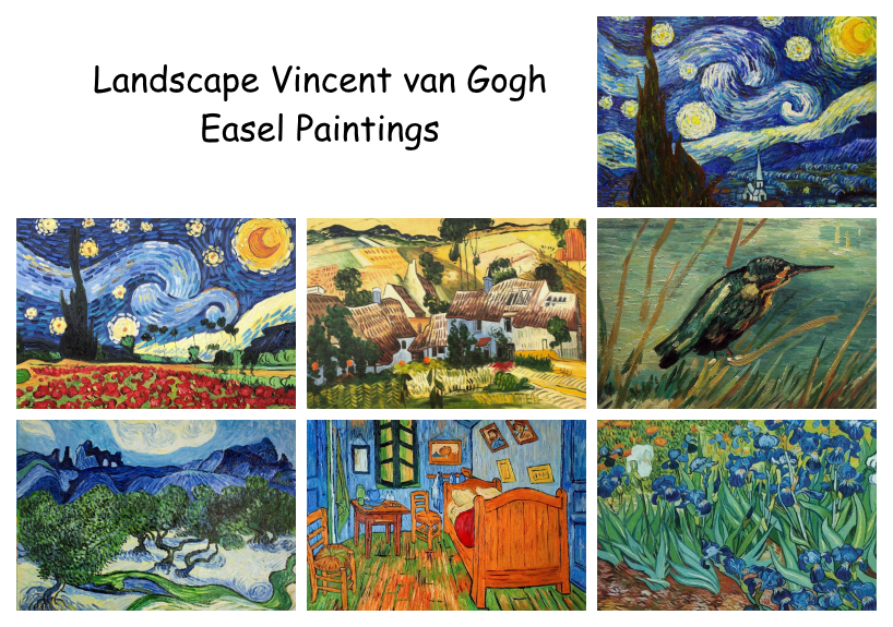 Landscape vanGogh Easel Paintings