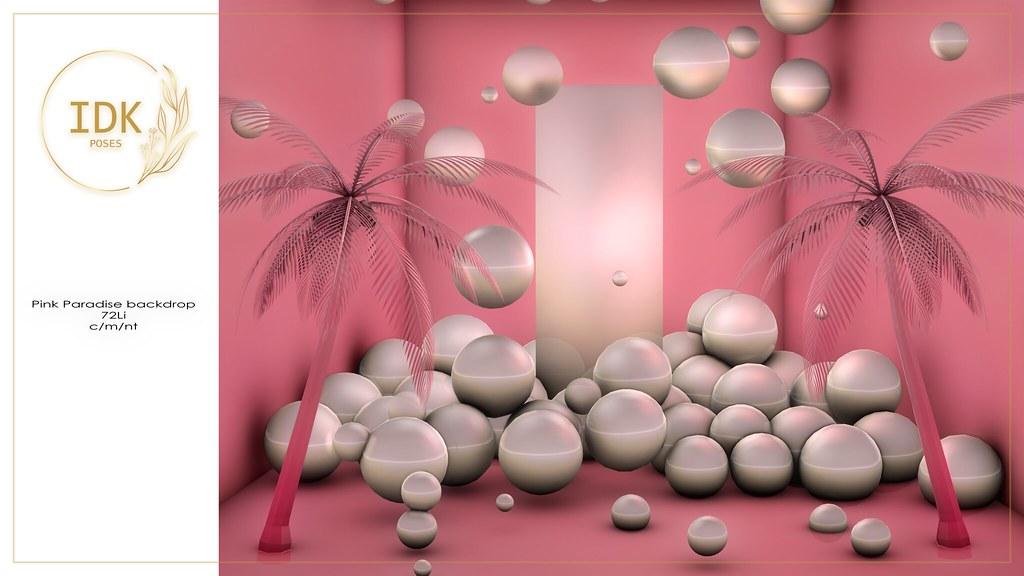 IDK Pink Paradise backdrop