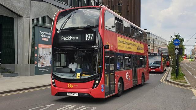 Go-Ahead London EH336 (YW19 VVJ) East Croydon 28/5/21