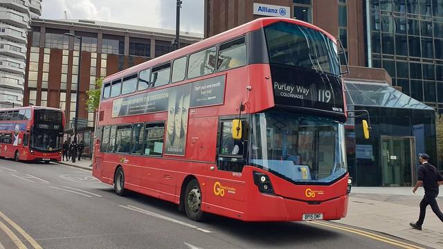 Go-Ahead London WHV59 (BP15 OMF) East Croydon 28/5/21