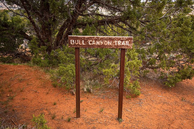 Bull Canyon Trail Sign
