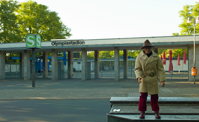 JIM001 Agent in Berlin S-Bahnhof Olympiastadion  24.5.2021