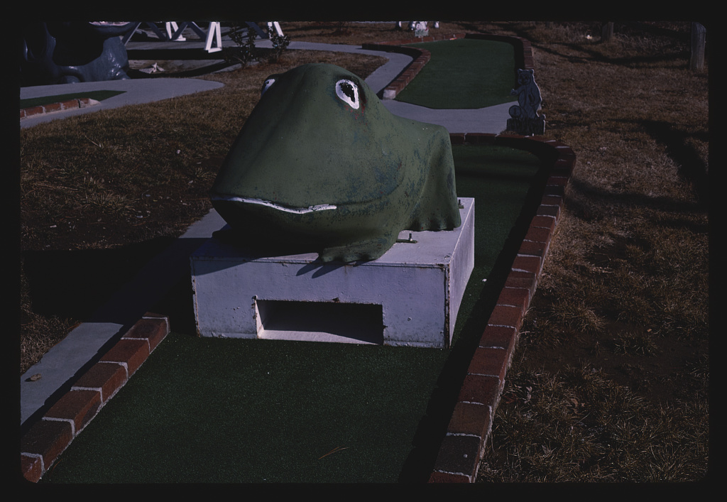 Frog, Smoky Bear Golf Park, Route 441, Pigeon Forge, Tennessee (LOC)
