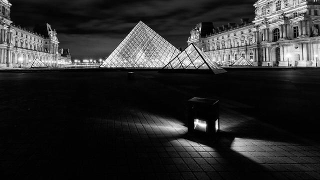 Pyramide éclairée
