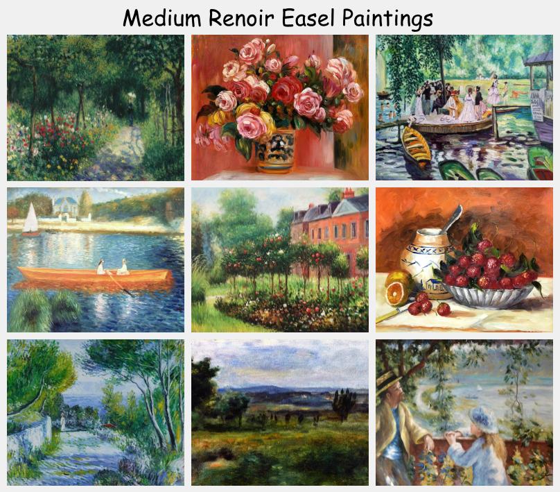 Medium Renoir Easel Paintings