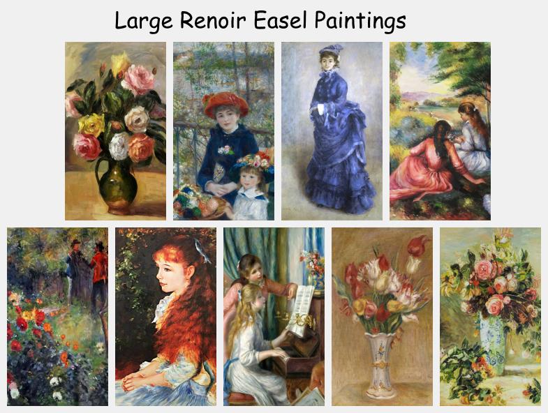 Large Renoir Easel Paintings
