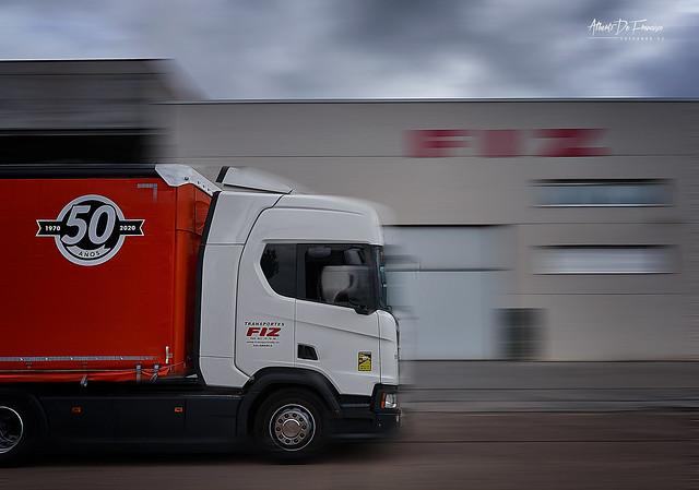 Imagen de un camión de la empresa Transportes Emilio Fiz.