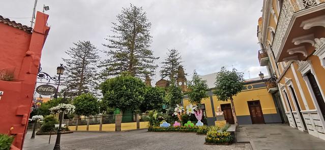Plaza de Santiago de Galdar desde la calle Capitán Quesada