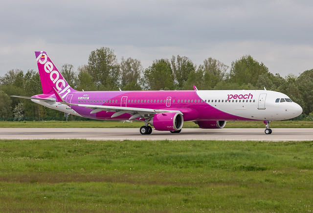 A321-251NX/LR, Peach, D-AZAW, JA901P (MSN 10458)