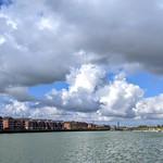 Storm clouds at the marina