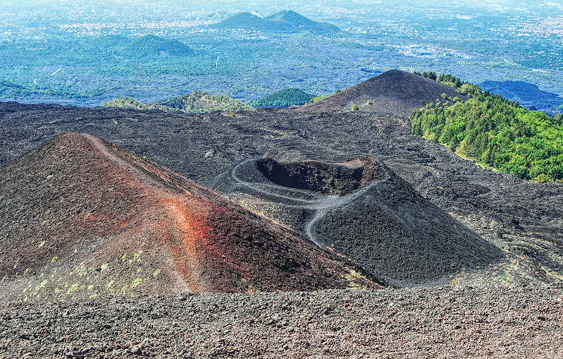 Silvestri craters of Mount Etna