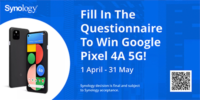 Stand a chance to win a Google Pixel 4A 5G if you participate in an online quiz by Synology. Link here.