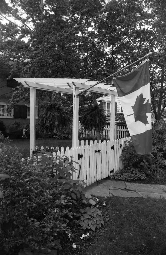 Canadian Flag and Front Gate