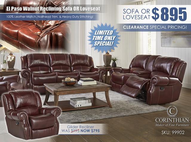 El Paso Walnut Reclining Living Set_99902_2021_Sofa or Loveseat
