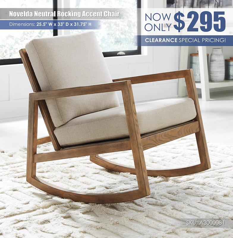 Novelda Neutral Rocking Accent Chair_A3000081