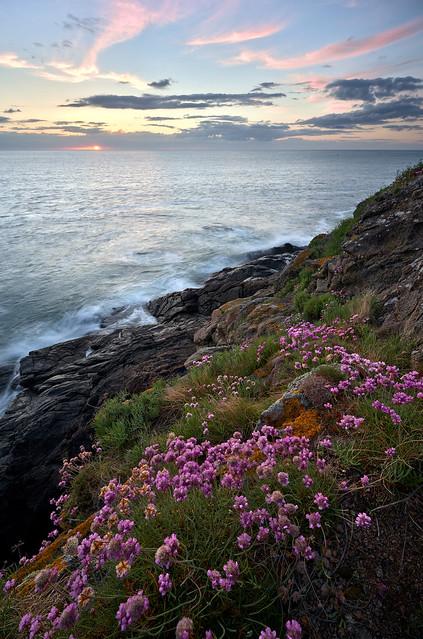 Calm sunset at Pointe du Grouin