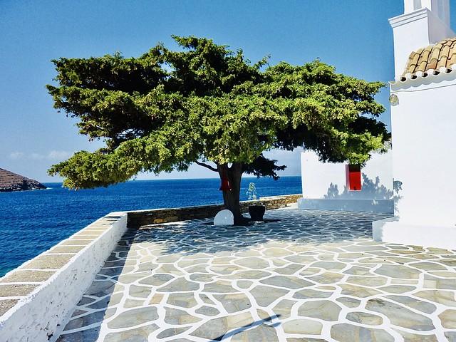 Red door.  Kythnos Island,Greece
