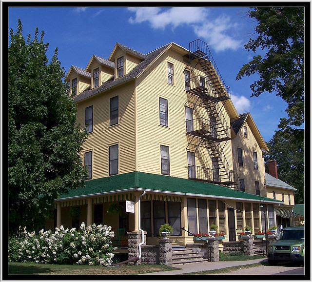 Hotel Lenhart ~ Bemus Point -  New York ~ Historic Hotel ~ Entrance