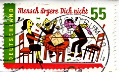 **May, 28** *World Game Day* great stamp Germany € 55c (Mensch ärgere Dich nicht [Board game, Brettspiel] Man, Don't Get Angry, T'en fais pas, Ki nevet a végén?, 德國十字戲, Hombre, no te enfades) timbres Allemagne  우표 독일 유럽 sellos Alemania selos Alemanha