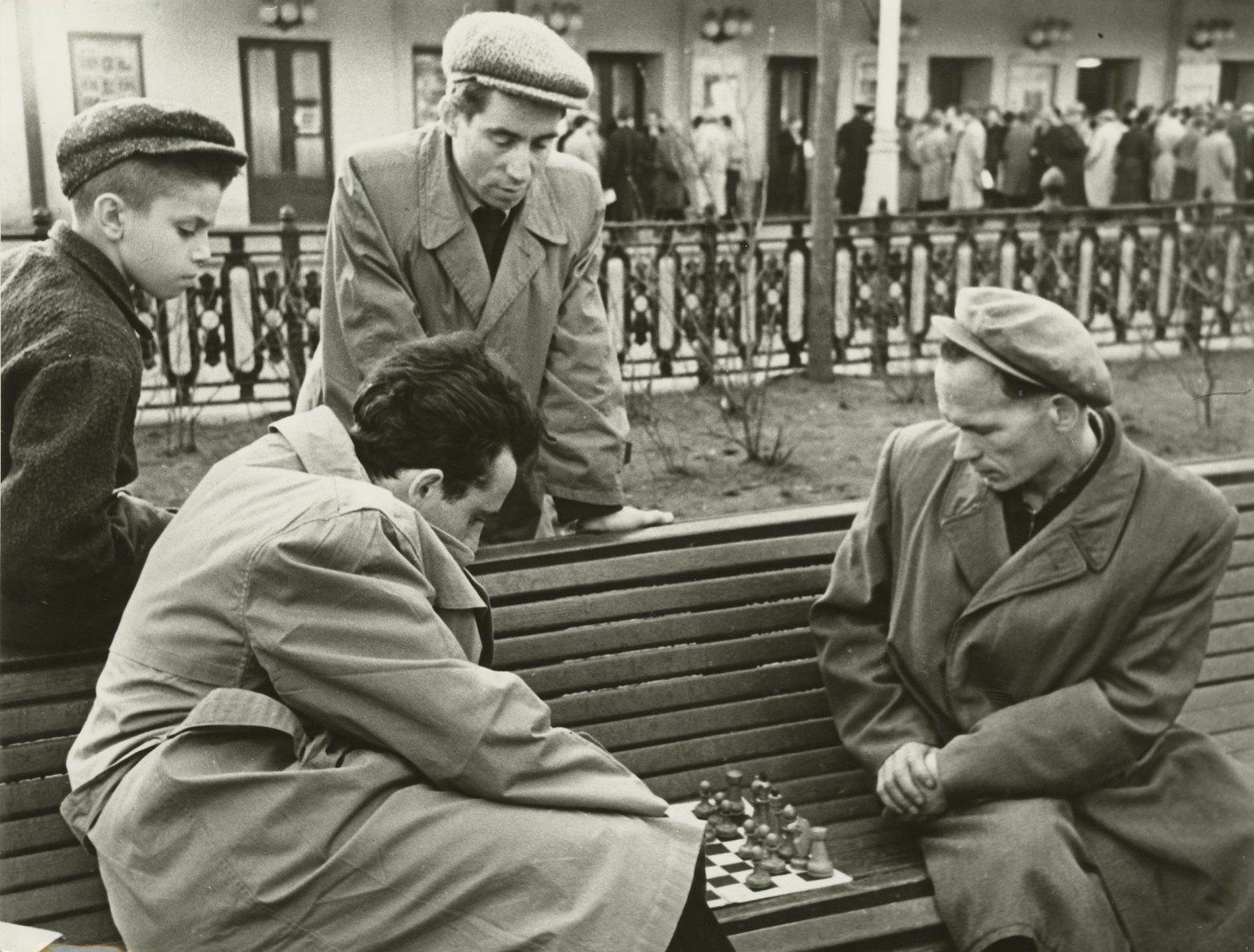 1950-е. Москва и москвичи. У шахматного клуба