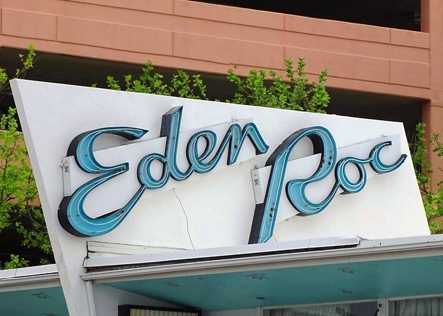 MD, Ocean City-Eden Roc Motel Neon Sign