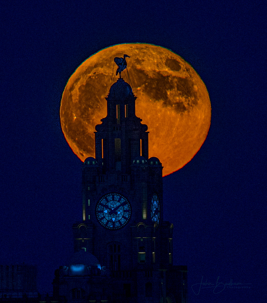Now showing : Super Moon & The Liver Bird