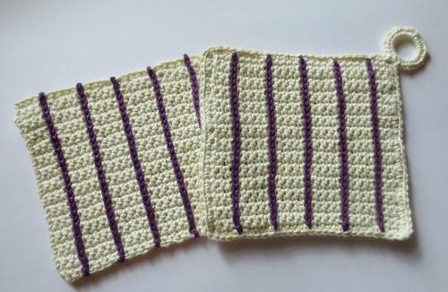 Vertical Stripes Crocheted Set