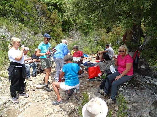 Le spuntinu près du pont de la Figa Bona avec 19 participants