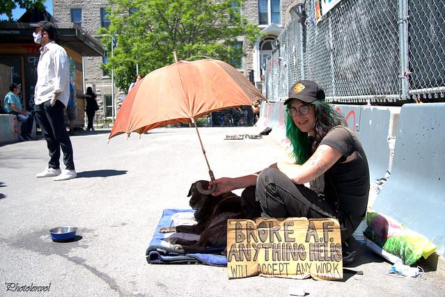 de Vancouver: un jeune et son chien