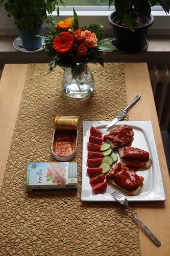 Ausnahmsweise Allein Abendessen (Tischbild)