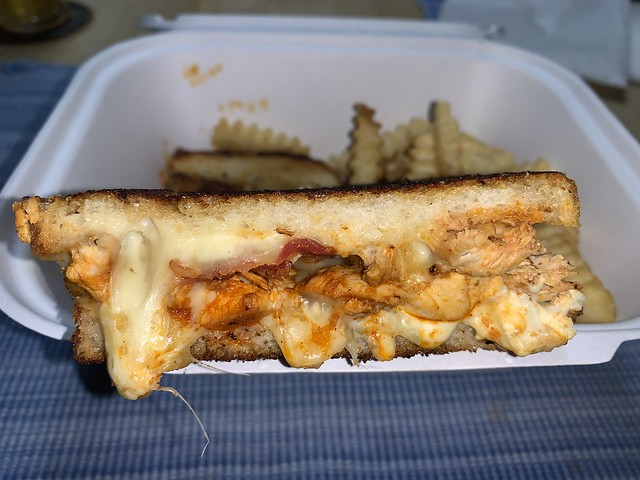Buffalo Grilled Cheese - With Bacon And Double Cheese